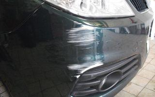 Простой ремонт бампера автомобиля и покраска своими руками