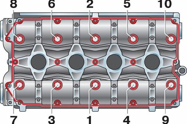Замена прокладки гбц на ваз 2110 16 клапанов