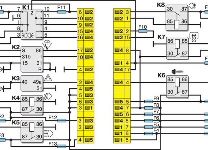 Схема блока для ВАЗ 2110 — 2112