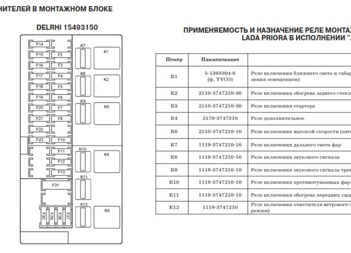 Схема монтажного блока