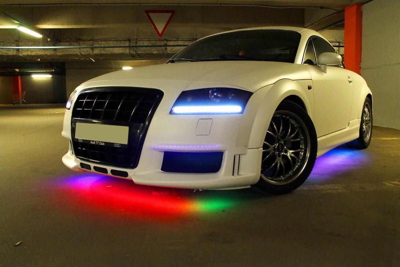 Разноцветная подсветка дна