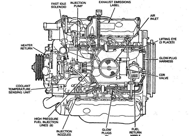 Схема дизельного мотора